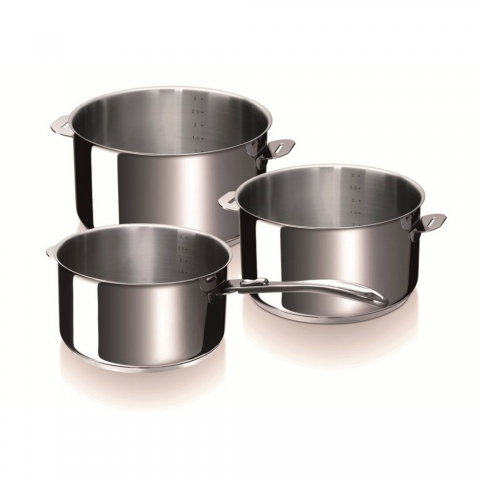 Série 3 casseroles Evolution BEKA 16-18-20 cm
