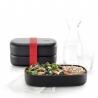 LunchBox To Go Black LEKUE