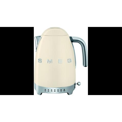Bouilloire 1,7L SMEG crème Température variable