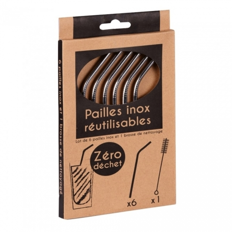 Pailles inox X 6 TREND'UP