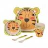 Coffret 5 pièces tigre pour enfant en fibres de bambou TABLE PASSION