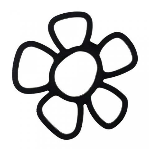 Dessous de plat fleur noir F&H 104821