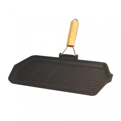 Poêle grill rectangulaire en fonte BAUMALU 388017