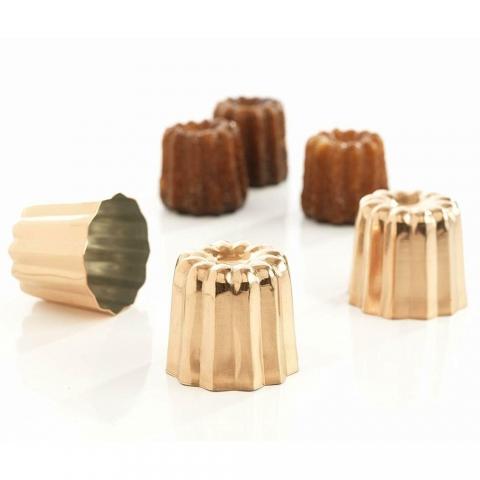 3 Moules à cannelés cuivre BAUMALU 450278
