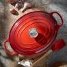 Cocotte ovale Rouge Cerise 33 CM Le Creuset
