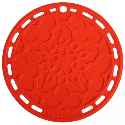 Dessous de plat Rouge Cerise en silicone LE CREUSET