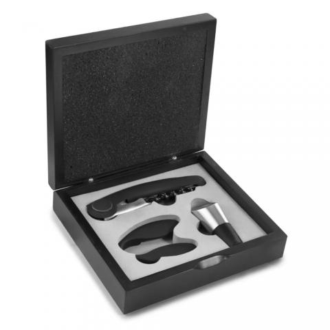 Coffret tire-bouchon avec coupe-capsule et décanteur IBILI 695014