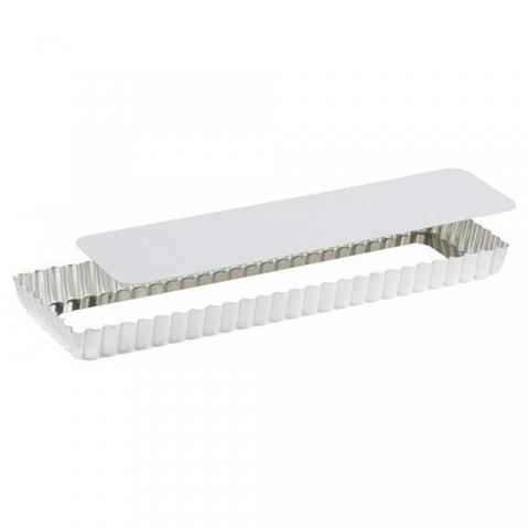 Moule à tarte rectangulaire fond amovible 35 CM Blanc GOBEL 125410
