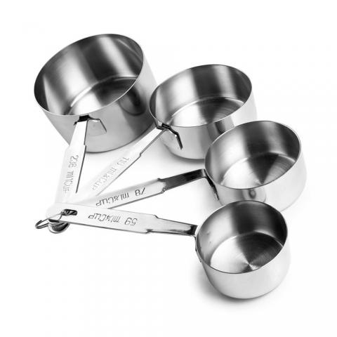 Lot 4 casseroles à mesurer inox ACCESS