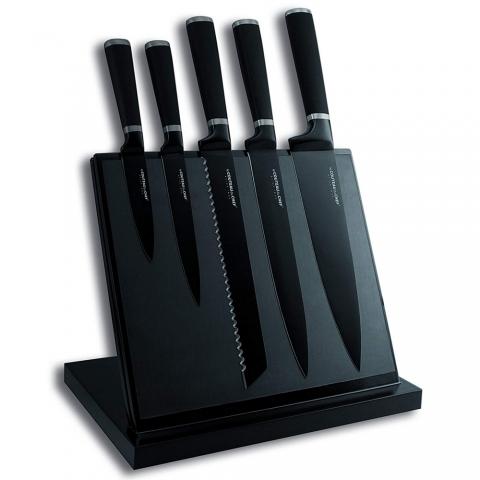 Bloc couteaux aimanté Noir TB 443610