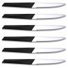 Bloc 6 couteaux à Steak Furtif Noir TB 10070004