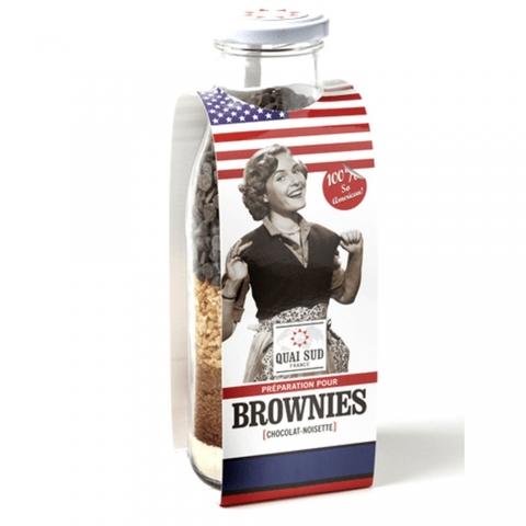 Préparation pour Brownies Chocolat-Noisette QUAI SUD 1PGBRCNDM
