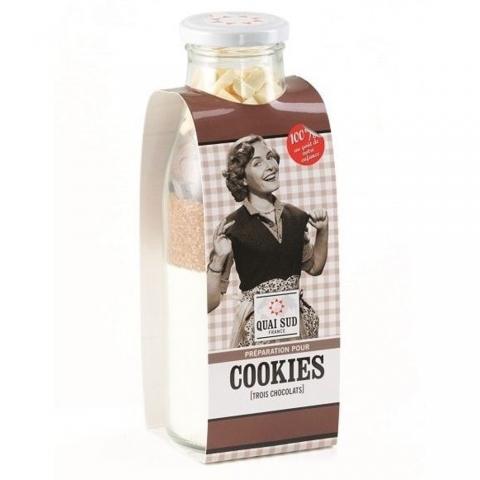 Préparation pour Cookies aux 3 Chocolats QUAI SUD 1PGCO3CDM