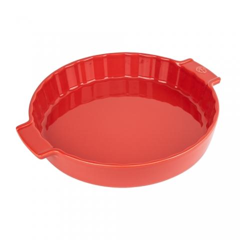 Tourtière en céramique Appolia Rouge 28 CM PEUGEOT