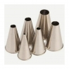 6 douilles unies inox LACOR 68996