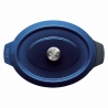 Roaster ovale Iron Cobalt Blue 34 X 26 CM WOLL 3426CI-020