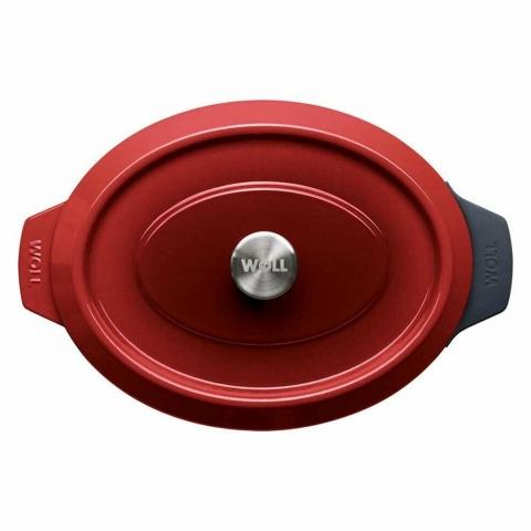Roaster ovale Iron Chili Red 34 X 26 CM WOLL 3426CI-010