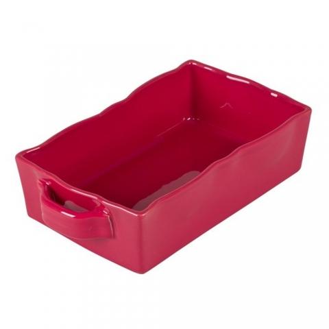 Plat à four rectangulaire Gusto Rouge Cerise 25 X 17 CM TABLE PASSION