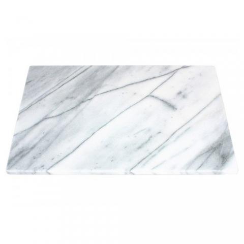 Planche rectangle en marbre blanc ACCESS