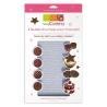 Feuilles structures pour chocolat x4