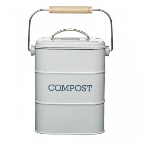 Poubelle à compost 3.2 L Gris Living Nostalgia KITCHENCRAFT LNCOMPGRY