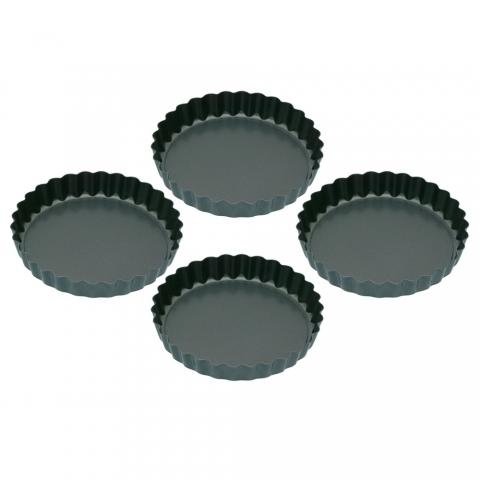 4 mini-moules à tartelettes 10 CM MasterClass KITCHENCRAFT KCMINIFLANPK4