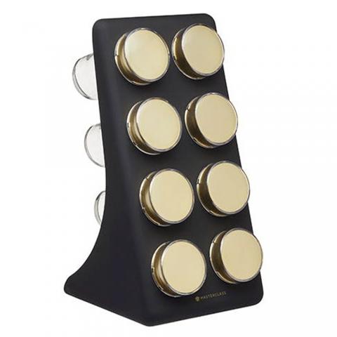 Etagère à épices 8 pots MasterClass KITCHENCRAFT MCBRSSPICE8PC