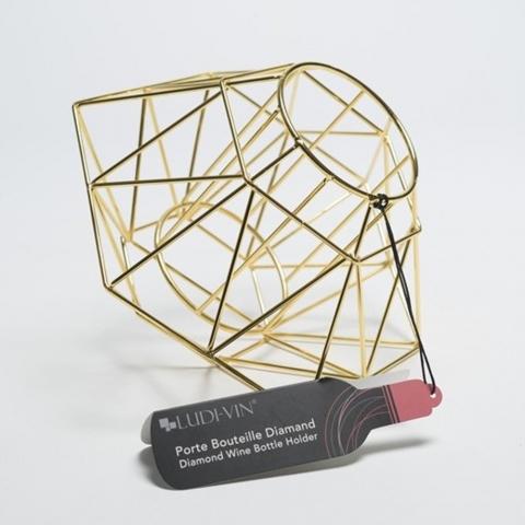 Porte-bouteille diamant doré Ludi-Vin VINOLEM 14152