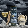 Coffret 6 glaçons granit du Sidobre avec pince ON THE ROCKS CT6GS
