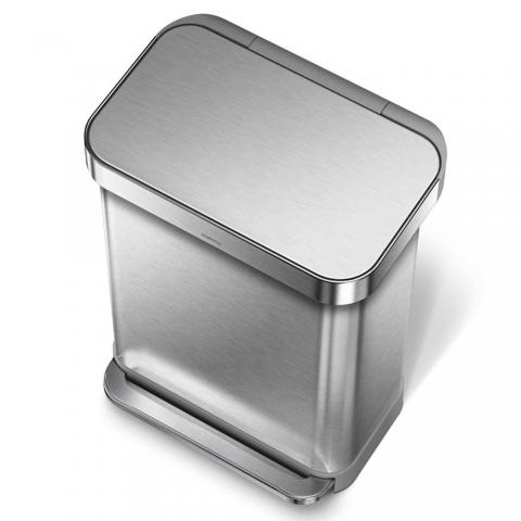 Poubelle rectangle à pédale inox 45 L SIMPLEHUMAN CW2024