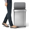 Poubelle rectangle à pédale inox 45 L SIMPLEHUMAN CW2024