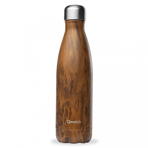Bouteille isotherme Wood 500 ML QWETCH QD3084