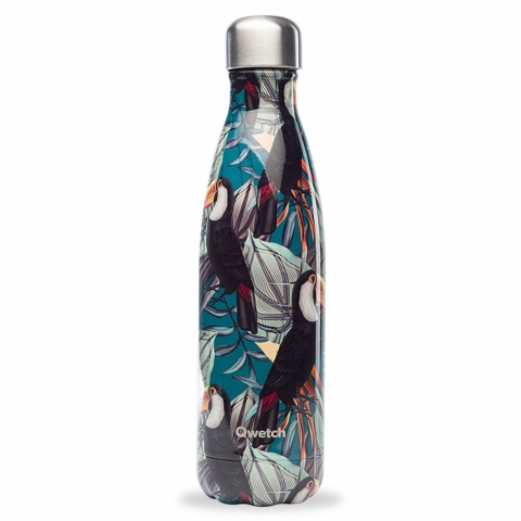 Bouteille isotherme Tropical Toucan 500 ML QWETCH QD3108