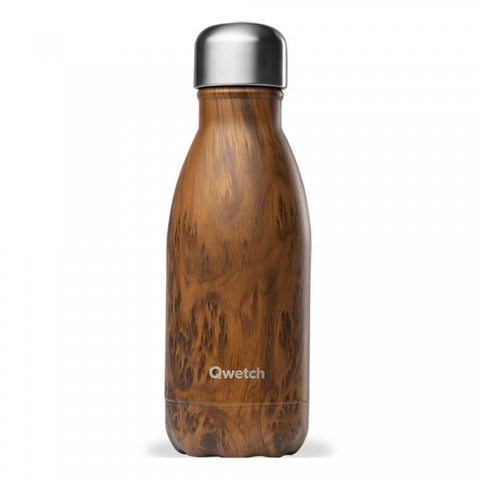 Bouteille isotherme Wood 260 ML QWETCH QD3066