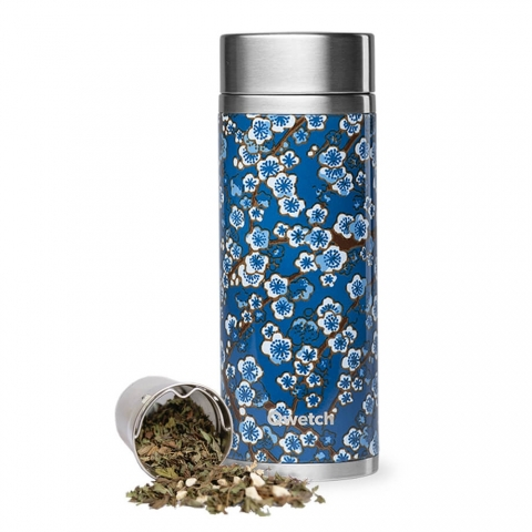 Théière isotherme Flowers Bleu 400 ML QWETCH QT5177