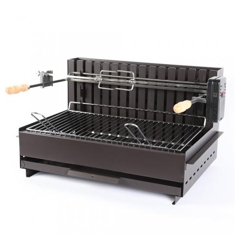 Barbecue à charbon Original Vulcain TB 61 X 33 CM acier Noir LE MARQUIER GBC3657
