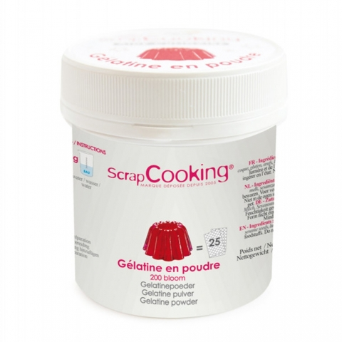 Pot de gélatine en poudre 50 G SCRAPCOOKING 4496