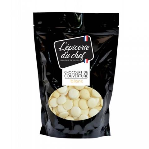 Palets de chocolat Blanc 200 G L'EPICERIE DU CHEF EDC8789
