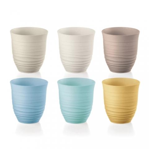 Lot 6 verres Tierra colorés GUZZINI 17950352