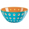 Bol Le Murrine 25 CM Bleu Orange Blanc GUZZINI 279425145