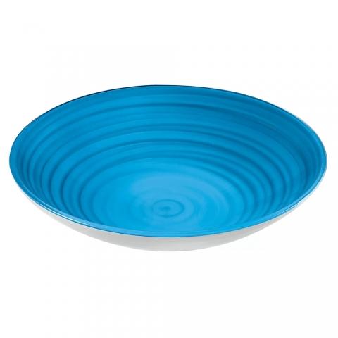 Centre de table Coupe à fruits Twist Bleu GUZZINI 10870048