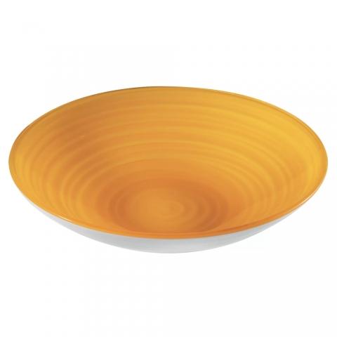 Centre de table Coupe à fruits Twist Jaune GUZZINI 108700151