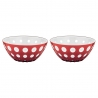 Set de 2 bols Le Murrine 12.5 CM Rouge Blanc Transparent GUZZINI 279412147