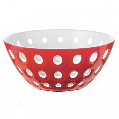 Bol Le Murrine 25 CM Rouge Blanc Transparent GUZZINI 279425147
