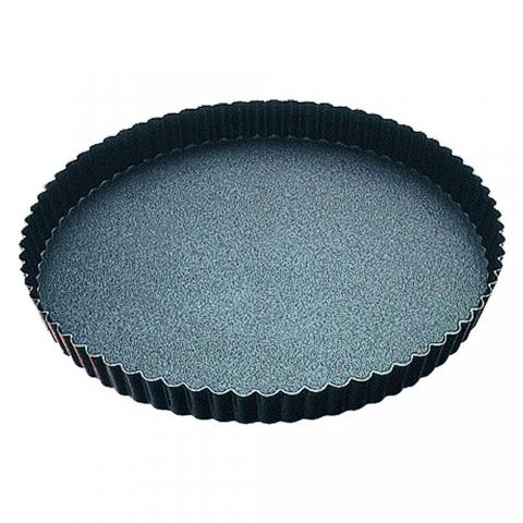 Tourtière ronde cannelée anti-adhérente 32 CM GOBEL 226350