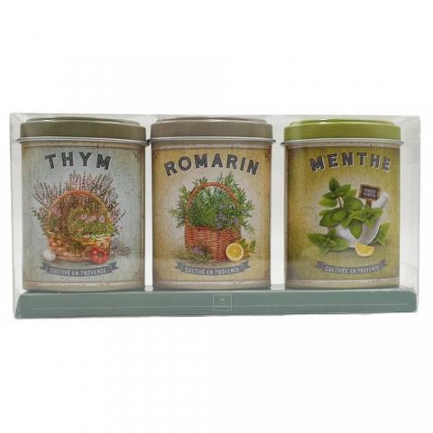 Coffret Thym Romarin Menthe de Provence boîtes 10 G ESPRIT PROVENCE MPAM02