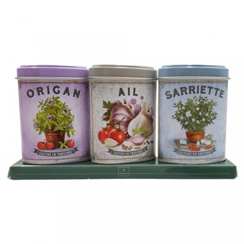Coffret Origan Ail Sarriette de Provence boîtes ESPRIT PROVENCE MPAM03