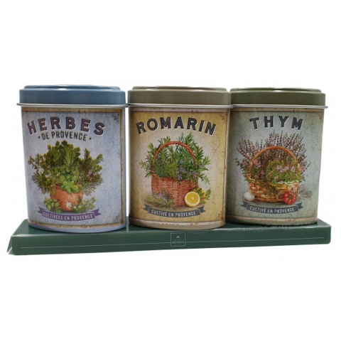 Coffret herbes Provence Romarin Thym boîtes ESPRIT PROVENCE MPAM08