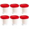 6 pots yaourtière Multi-Délices Express Rouge SEB XF100501