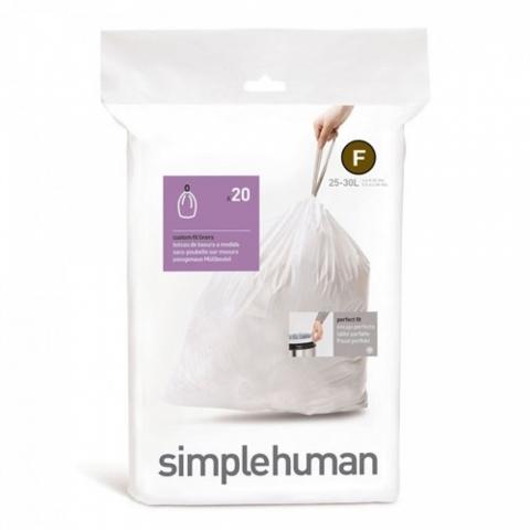 Sacs poubelle sur-mesure Code F 25 L X 20 SIMPLEHUMAN CW0165